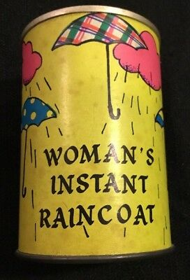 Retro VTG Instant Raincoat in a Can By The Chest Originals Los Angeles Woman's