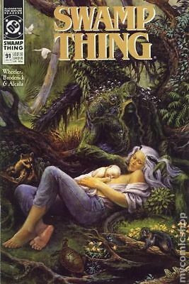 Swamp Thing (2nd Series) #91 1990 FN Stock Image