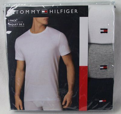 Tommy Hilfiger 3 pack White Grey Navy Classic Crewneck T-shirts Tee NWT