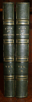 1834 The Life of Mrs Siddons (Actress) Thomas Campbell First Edition 2 Volumes