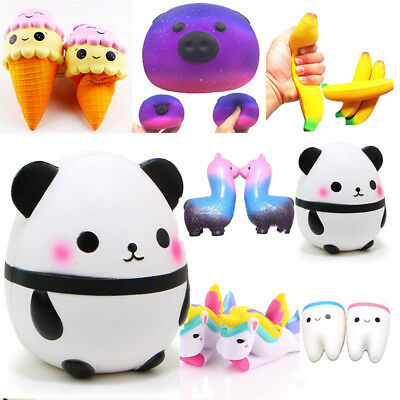 Jumbo Slow Rising Squishies Scented Charms Kawaii Squishy Squeeze Kid Toy New