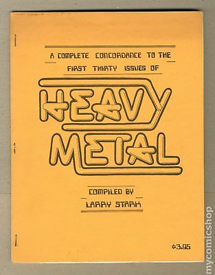 Heavy Metal A Complete Concordance To The First Thirty Issues SC #1 1979 FN 6.0