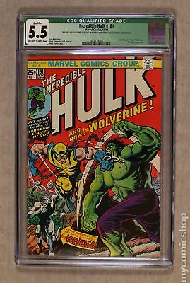 Incredible Hulk (1st Series) #181 1974 CGC 5.5 QUALIFIED 1473114002