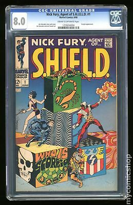 Nick Fury Agent of SHIELD (1st Series) #1 1968 CGC 8.0 1259204004