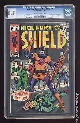 Nick Fury Agent of SHIELD (1st Series) #15 1969 CGC 8.5 1023799024