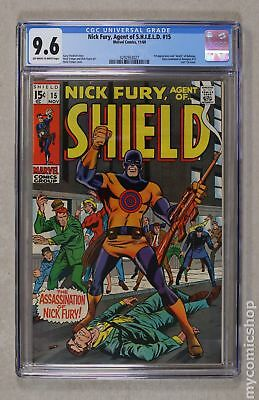 Nick Fury Agent of SHIELD (1st Series) #15 1969 CGC 9.6 0292953027