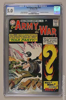 Our Army at War #151 1965 CGC 5.0 1056560010