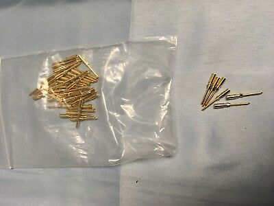 49 NEW Harting 09-15-000-61-26 Gold Plated Connector Contacts 14 AWG Crimp