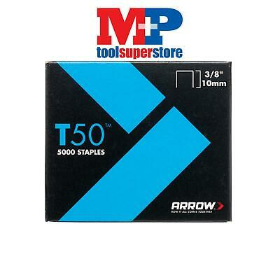 Arrow T5038 T50 Staples 10mm (3/8in) Pack 5000 (4 x 1250)