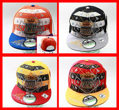 C G NEW YORK Bling NY righe cappello Piatto SNAPBACK CON VISIERA ... b4845862b00e