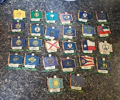 1959 Nabisco Shredded Wheat Tin Litho State Flags lot of 26