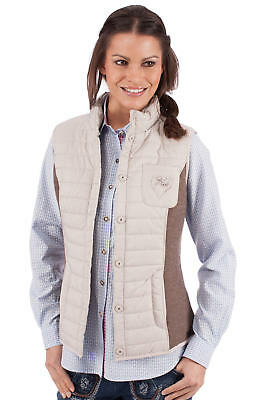 Spieth & Wensky Traditional Costume Quilted Vest Elke Taupe Nut