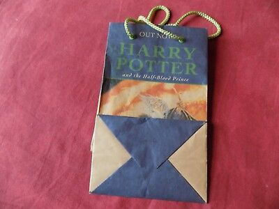 HARRY POTTER and the Half-blood Prince paper bag Bloomsbury 2005