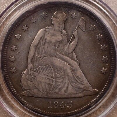 1843 Seated dollar, PCGS VF25, very pleasing original coin   DavidKahnRareCoins