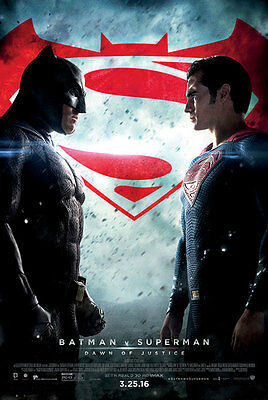 Batman Vs Superman Dawn of Justice - original DS movie poster  D/S 27x40 Final