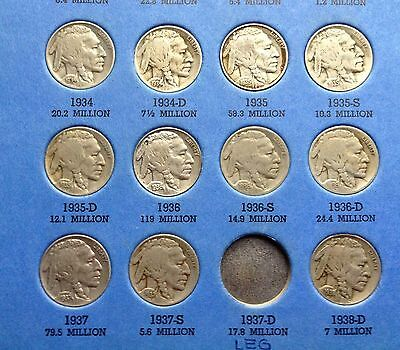 Key Dates *1931S, 1924S&d! Buffalo Nickel Collection 1913-1938D! 41 Diff. Coins!