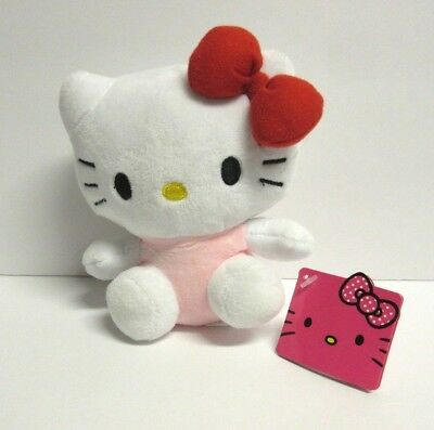 "New Hello Kitty Plush Stuffed Animals 5"" Red Bow Pink Outfit"