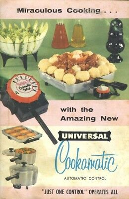 Universal Cookamatic Recipe Instruction Booklet 1957