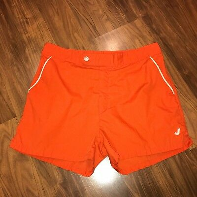 Vtg 70s 80s Jantzen ORANGE Mens 32 Cotton Tennis Track athletic swim gym shorts