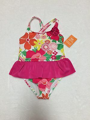 NWT Gymboree Toddler Girls Size 5T Floral 1Pc Swimsuit Pink Ruffle New $26.95