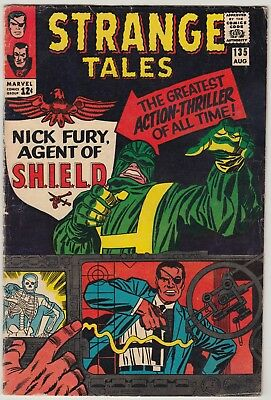 Strange Tales #135, 1965 Marvel Comics Fn, Nick Fury Agent Of Shield Begins