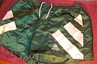 Vintage ADIDAS EQUIPMENT Green SATIN Soccer Shorts - Men's Sz Large L