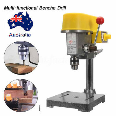 Electric Hole Drill Bench Press Table Stand Holder Top Machine 1-10mm 450W AU