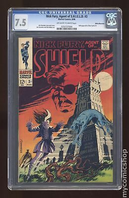 Nick Fury Agent of SHIELD (1st Series) #3 1968 CGC 7.5 White Mountain 0250727004