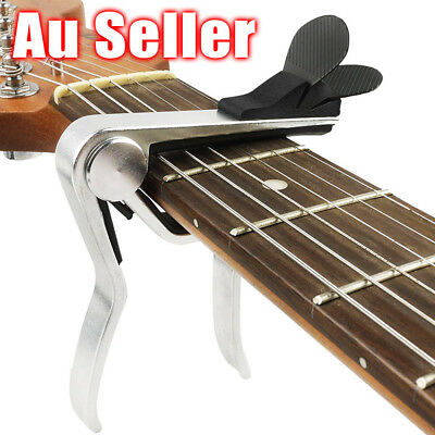 New Design Alloy Capo For Acoustic Electric Guitar Quick Change With Pick Holder