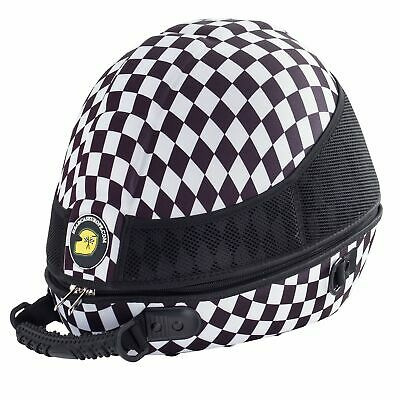 Headcase Racing Car / Bike / Kart Helmet Carry Case - Chequered Design
