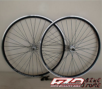 "Ruote bici MTB 26"" per pignoni a filetto A:LIGHT KOMET NERE, cerchi robusti"