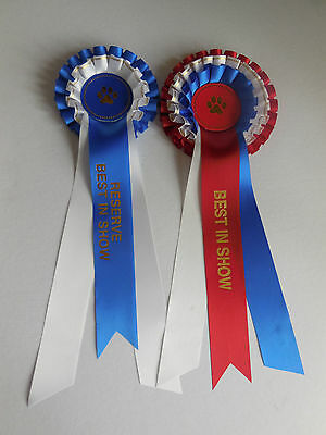 Dog Show Best in Show & Reserve Rosettes
