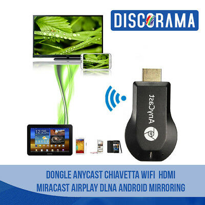 Dongle Anycast Chiavetta Wifi Hdmi Miracast Airplay Dlna Android Mirroring