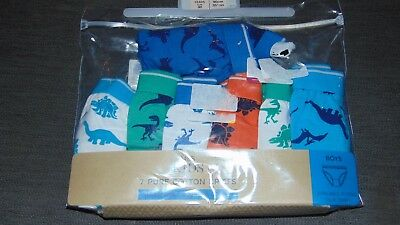 M&S Set of 5 100%Cotton 'Dinosaurs' Briefs 18-24m 90cm Multi BNWT