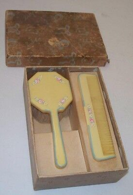 Vintage Baby Brush and Comb Set in the Box Made in Japan