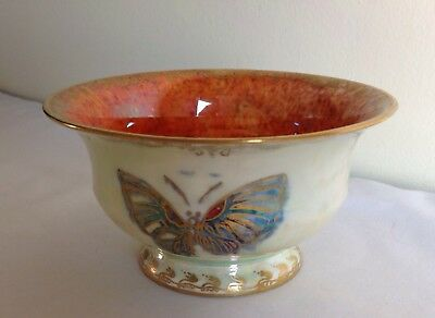 Vintage Art Deco Wedgwood Lustre Butterfly Small Round Bowl