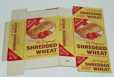 1960's Nabisco Shredded Wheat Snack Pack cereal box