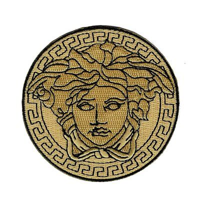Medusa Embroidered Iron on Sew on 3 inch Patch