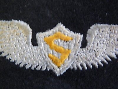 """WW2 WWII Original Service Pilot WIngs USAAF Army Air Force Patch 5"""" Mesh Back"""