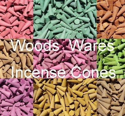 50 x INCENSE CONES Large Loose Indian Colourful Exotic - Selection of Fragrances