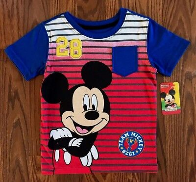 Disney Mickey Mouse Clubhouse Toddler Boys Graphic S/S T-Shirt Size 3T - 4T NEW