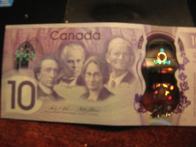 Canada 150 Yrs Celebrations Special Edition $10 Bank Note Beauty!
