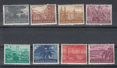Indonesia: 1960 Agricultural products set of 8 x 10 sets. SG830/837. MUH. Cheap