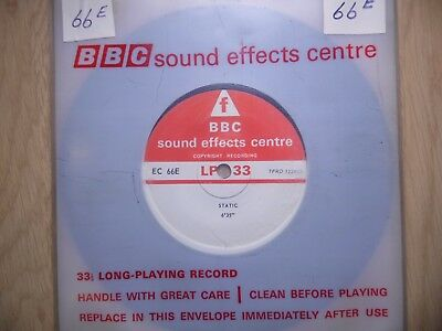 "BBC Sound Effects 7"" Record - Static & Line Noise on Transatlantic Circuit EC66E"