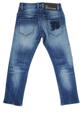 JOHN GALLIANO Nuovo Pantalone BAMBINA Jeans Denim Stretch NWT Originale