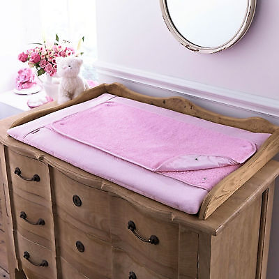 New Clair De Lune Cotton Candy Pink Baby Changing Mat With Removable Cover