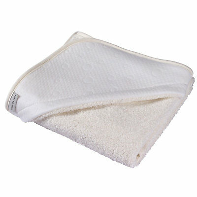 New Clair De Lune Ivory White Super Soft Hooded Towel Cotton Candy Baby Gift