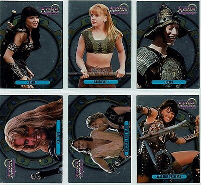 Xena Warrior Princess Series 1 Set Of 6 Xena Foil Mirrorboard Cards