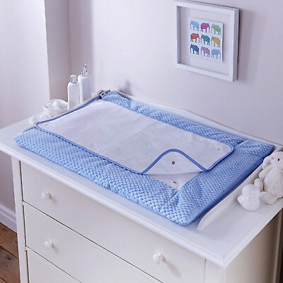 New Clair De Lune Honeycomb Blue Padded Baby Changing Mat With Cover