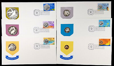 1973 British Virgin Islands Six Piece Proof Set, First Day of Issue Cachets!